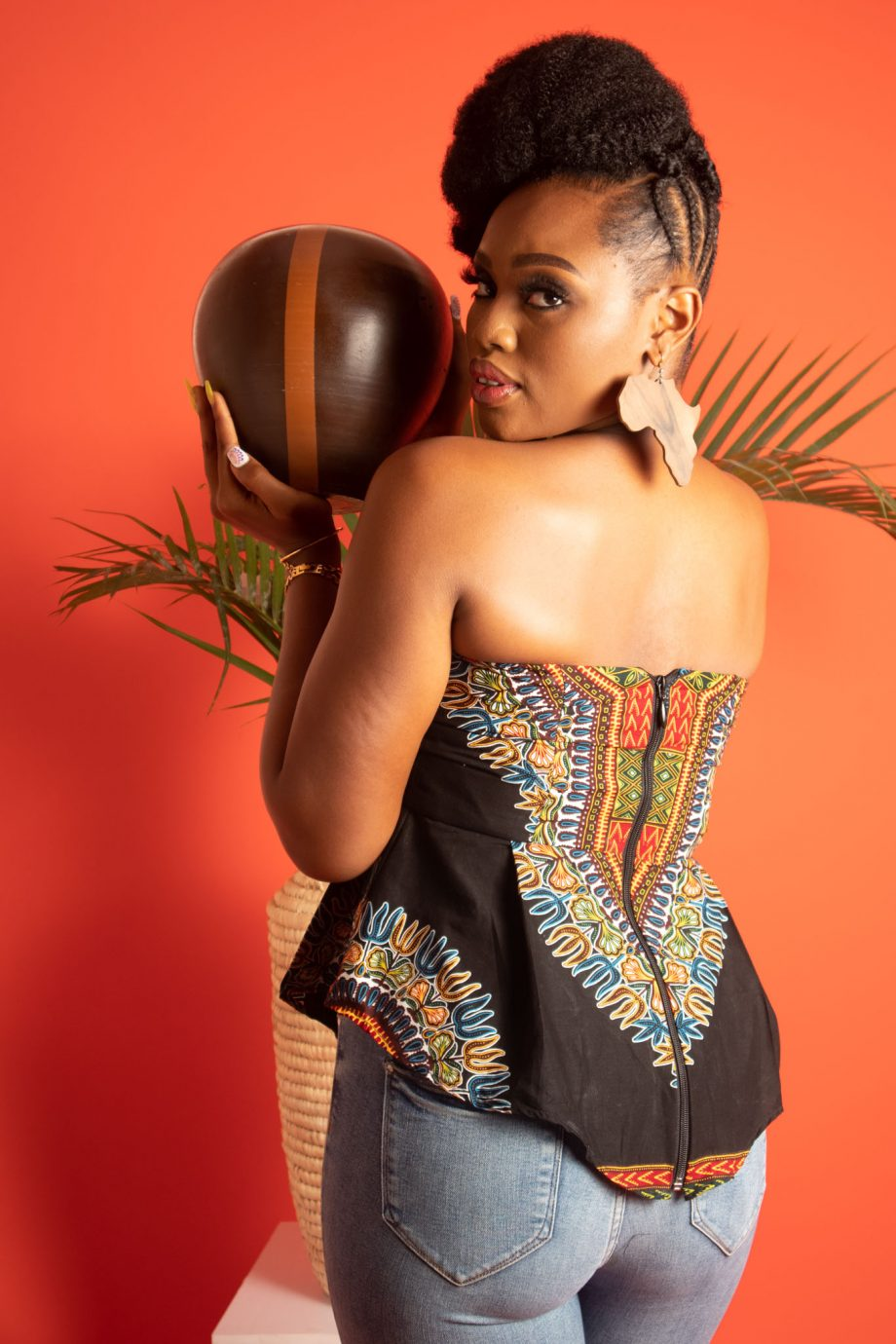 African Print Strapless Top ABDALLA by African Fashion Brand Naborhi