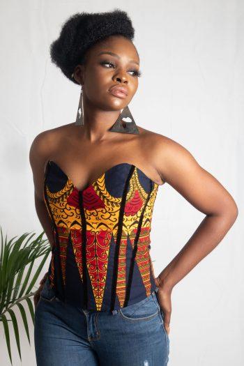 Beautiful African Print Corset Top KENNA by Naborhi