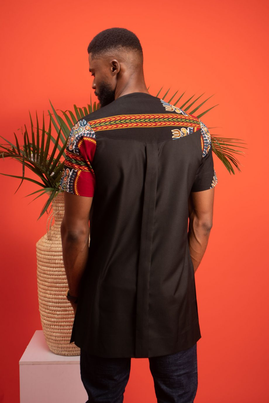 Black African Print shirt with short sleeves - ABDALLA by Naborhi African Mens Clothing by Naborhi