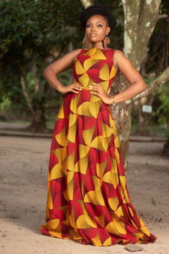 Elegant African Print Maxi Dress for Evening ZARINA by Naborhi
