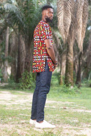 KAMARI African Print Ankara Shirt by African Fashion Brand Naborhi