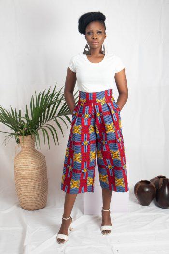 NAADE African Print Ankara Culottes by Naborhi