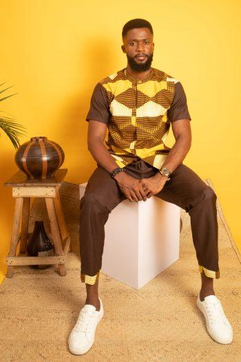 OBI African Print Ankara Mens Capri Pants Suit by Naborhi