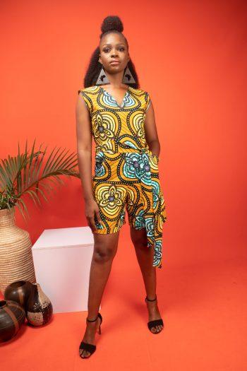 TARAJI African Print Ankara Shorts Playsuit by Naborhi