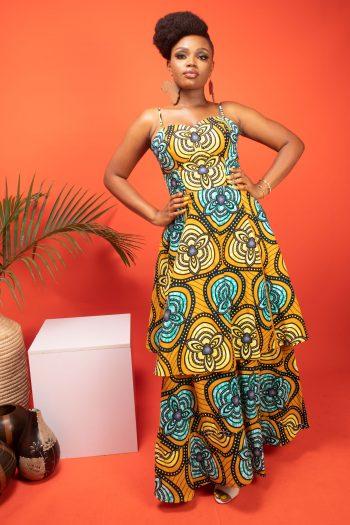 TARAJI African Print Elegant Maxi Dress by Naborhi