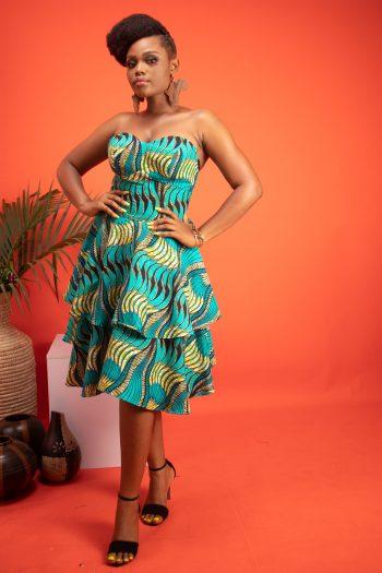 TEMI African Print Ankara Dress by Naborhi