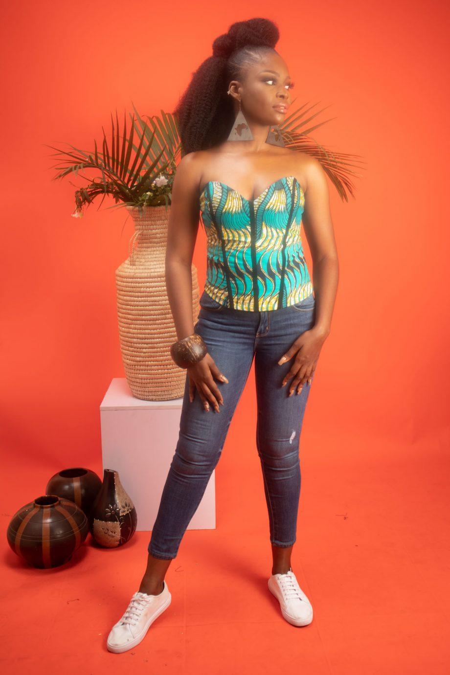 TEMI African Print Corset Top By Naborhi