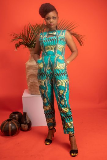 TEMI African Print Jumpsuit with Pockets by Naborhi