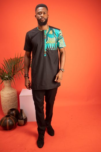 TEMI African Print Trouser Suit for Men with Ankara Print by Naborhi