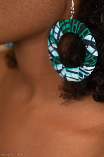 Aadan African Print Hoop Earrings