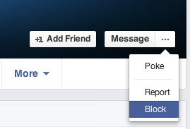 block facebook id of someone
