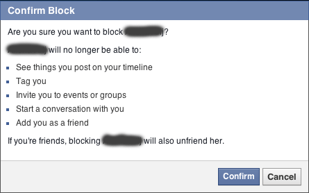block facebook profile