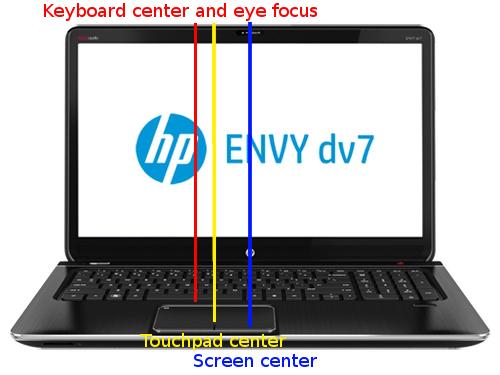 hp laptop with keypad