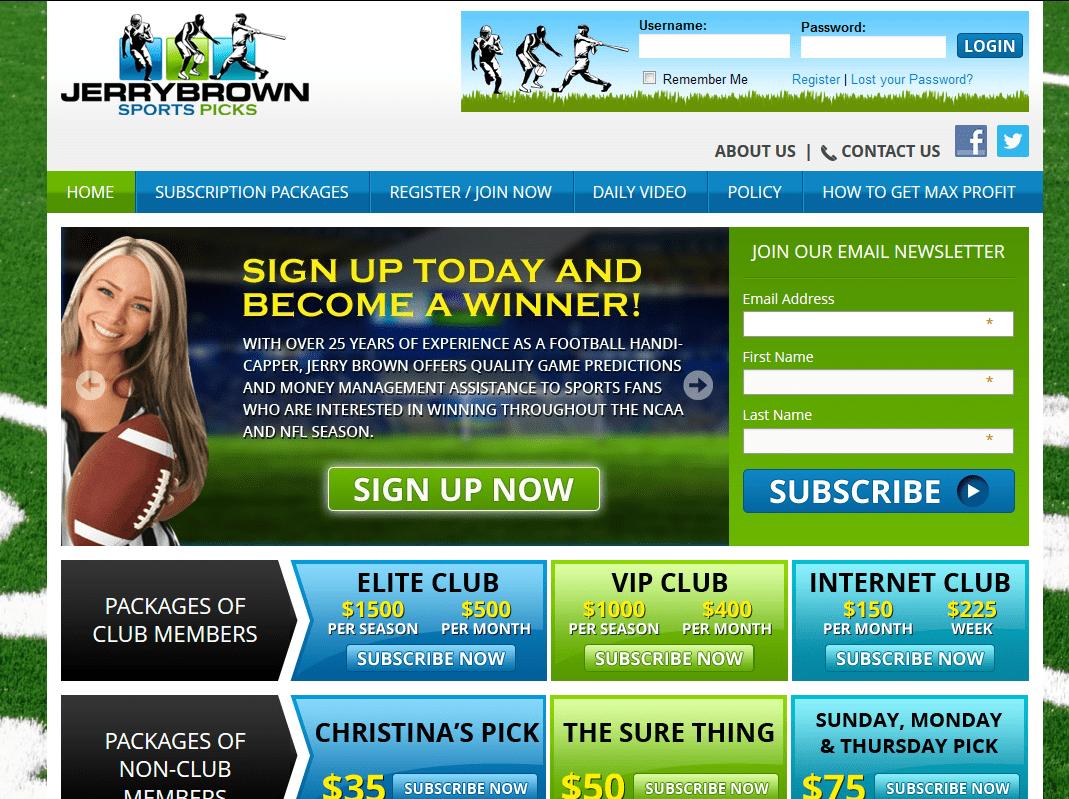 Jerry Brown Sports Picks