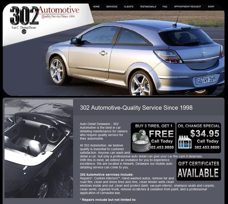 Featured Web Design client- 302 Automotive