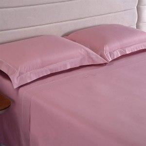 JOGO DE CAMA 200 FIOS HOTEL BORDADO CASAL – NIAZITEX – ROSE
