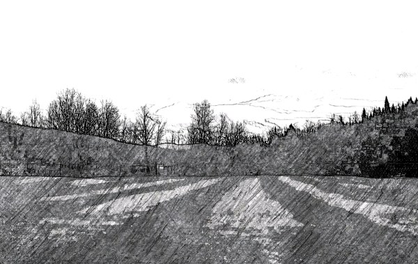 Digital, Landscape, Series, Horizon, 'Plate 01, Naccarato, Digital, Photo, Composition, HTC Desire, Android, mobile Phone, Eastern Townships, Sutton, Quebec, 2013