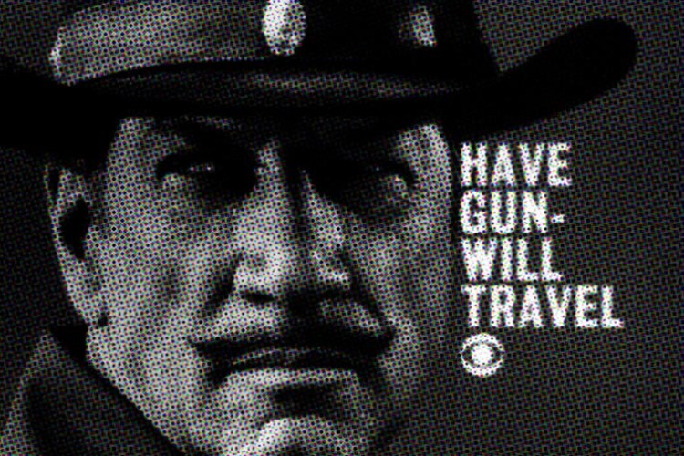 Mediating The Real - Image 2 (cropped): Have Gun - Will Travel (1957-1963) TV series starring Richard Boone as Paladin