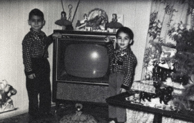 (cropped) Figure 1: B/W Photo. Myself with my brother Joseph (right) taken by my father. 1962. Sault Ste. Marie, Canada