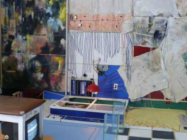 Image 06: John Naccarato, Vertebra, Part 2: The Skinning of Memory (VP2) Partial Overview. Artist Studio, University of Ottawa, Ottawa, Canada