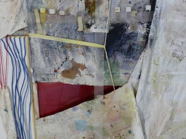 Image 06x: John Naccarato, Vertebra, Part 2: The Skinning of Memory (VP2) Partial Overview. Artist Studio, University of