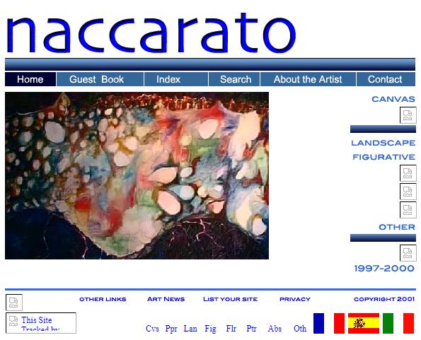 Naccarato.org Website, Wayback Machine, Internet Archive, January, 2002