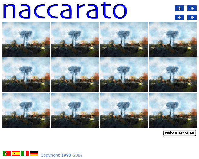 Naccarato.org Website, Wayback Machine, Internet Archive, December, 2002