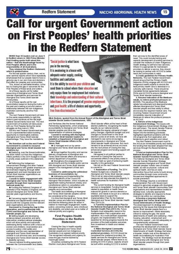Redfern Statement