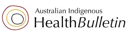 Australian Indigenous Health Bulletin banner & logo - 3 concentric circles
