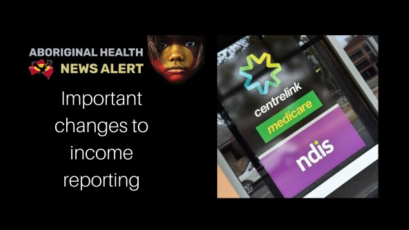 feature tile 'important changes to income reporting' & image of Centrelink Office