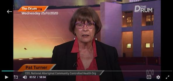 screen shot of Pat Turner on ABC The Drum