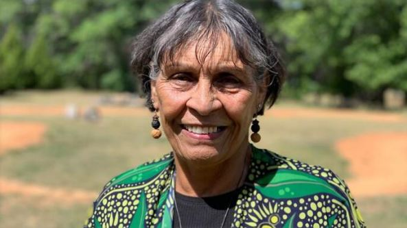 Ngunnawal elder Violet Sheridan lives with diabetes and she was scared of contracting COVID-19. (Sarah Collard: NITV News)
