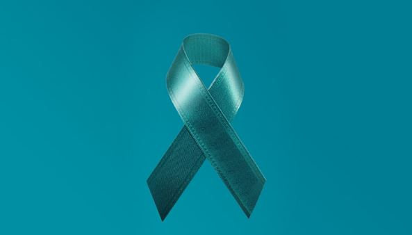 photo of teal ribbon for Teal Ribbon Day