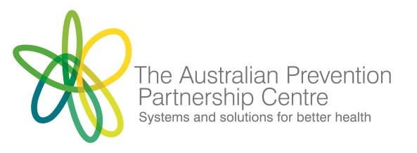 banner text 'The Australian Prevention Partnership Centre Systems and solutions for better health, interwoven green yellow blue flower like symbol