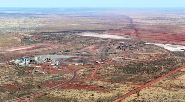 The granites gold mine, Tanami Desert NT view from the sky