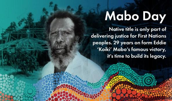Eddie Mabo NACCHO graphic. Original photo by: Jim McEwan