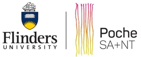 Flinders University & Poche SA+NT logos