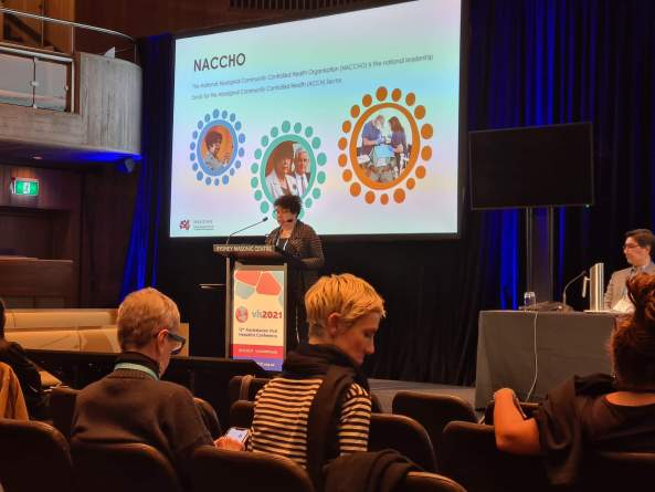 Dr Dawn Casey, Deputy CEO NACCHO speaking at the 12th Australasian Viral Hepatitis Conference in Sydney 1 June 2021.