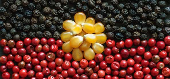 Red, black and yellow food arranged like the Aboriginal flag. Image credit: preventioncentre.org.au.