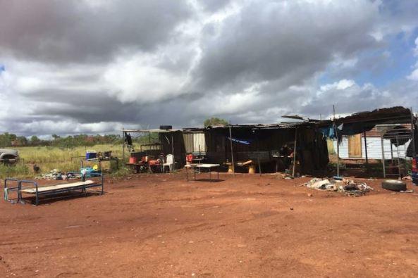 makeshift housing on edge of Tennant Creek, NT