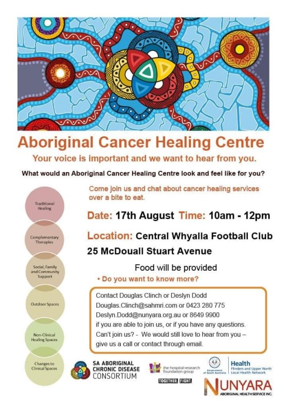 Aboriginal Cancer Healing Centre - community consultation session