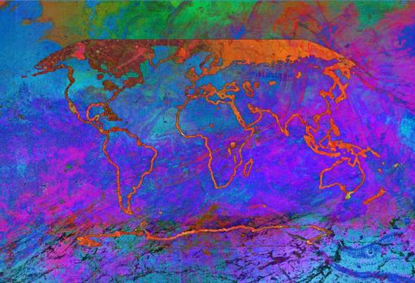 """'Changing' by the artist Alisa Singer - """"As we witness our planet transforming around us we watch, listen, measure … respond."""" Image source: IPCC."""