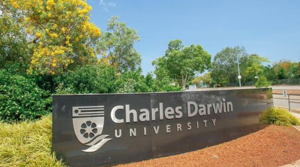 Charles Darwin University sign
