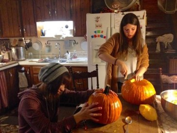 Carving pumpkins!