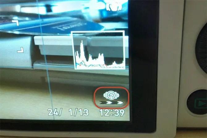 Flash Air Aktivitätsanzeige bei der Casio Exilim EX-ZR1000
