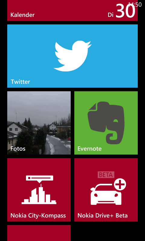 Mein Startscreen