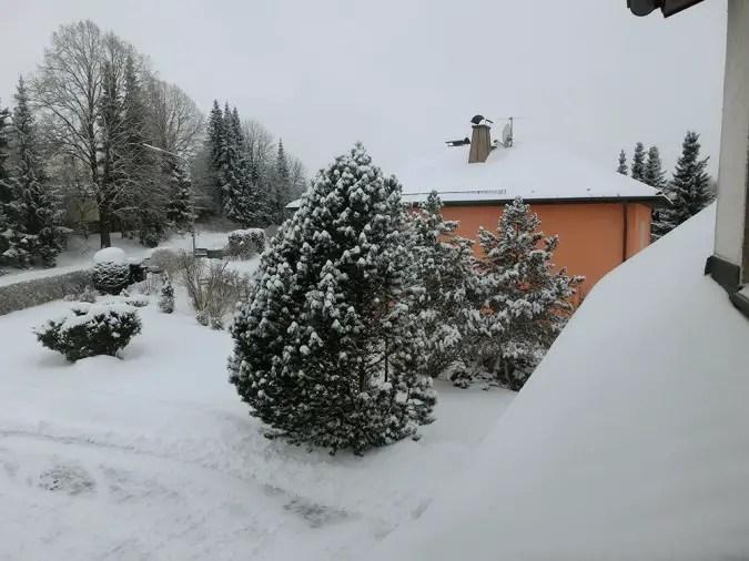 Schnee im Fichtelgebirge