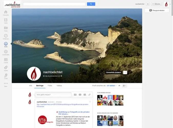 nachbelichtet bei Google+