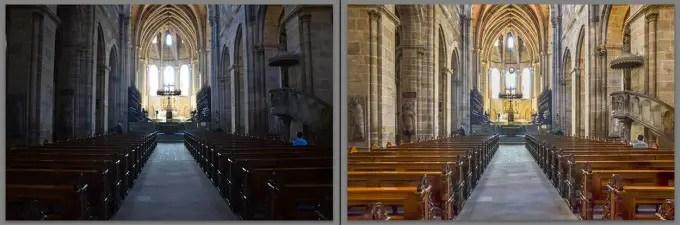 Das Fotos aus dem Praxisteil vorher und nachher