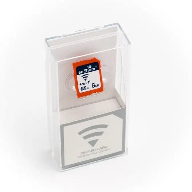EZ Share SD-Karte in der Verpackung